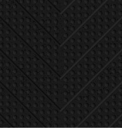 Black textured plastic chevron in small holes vector