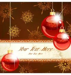 Elegant christmas banner vector