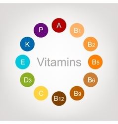 Vitamins collection for your design vector