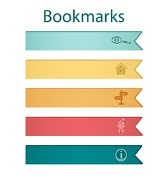 Bookmark icons autumn vector