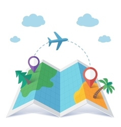 Flight destination concept in flat style vector