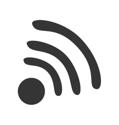 Wifi or wireless isolated flat icon vector