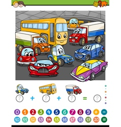 Math task for kids vector