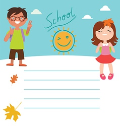 Back to school Design with kids vector image