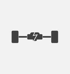 Black icon on white background car chassis vector