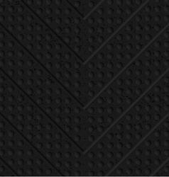 Black textured plastic chevron in small holes vector image vector image