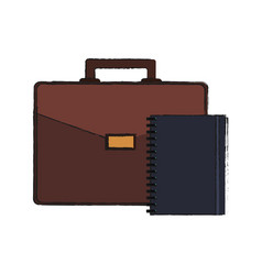 business briefcase icon vector image vector image