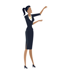Businesswoman in flat design vector