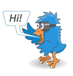 Cartoon blue bird vector