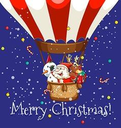 Christmas theme with Santa on balloon vector image vector image