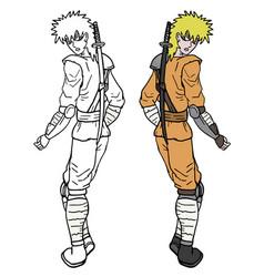 Color ninja vector