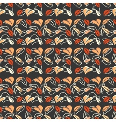 Colorful autumn leaves seamless pattern background vector