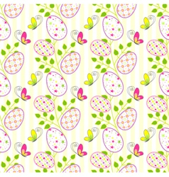 Colorful Easter holiday seamless pattern backgroun vector image vector image