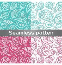 Colorful seamless pattern with painted wing vector