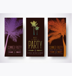 design of minimalist flyers for a summer party vector image