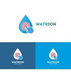 Drop and click logo combination aqua and vector