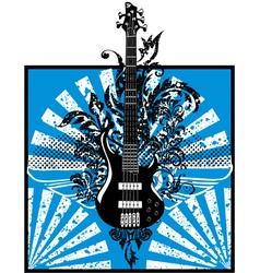 Electric guitar design vector image vector image