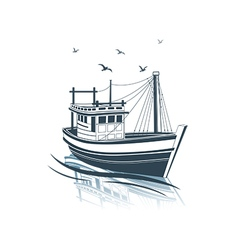 Fishing boat 2 vector image