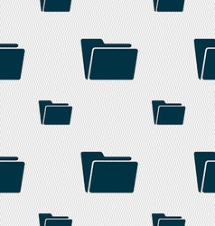 Folder icon sign Seamless pattern with geometric vector image