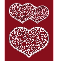 Heart pattern retro vector