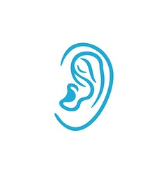 Human ear icon vector
