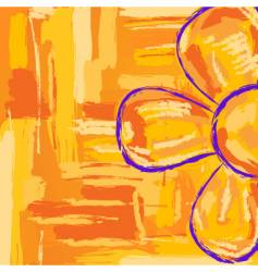 kid flower vector image vector image