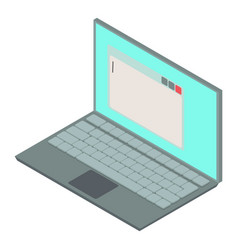 laptop icon isometric 3d style vector image vector image