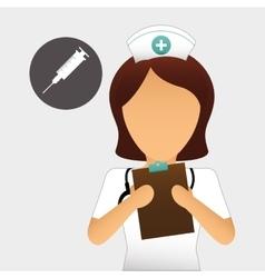 Medical care design nurse icon White background vector image vector image