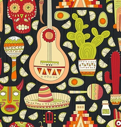 Mexico seamless pattern vector