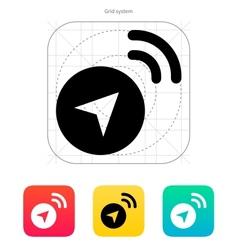 Navigator signal icon vector