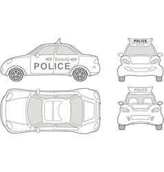Police car vector