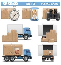Postal icons set 2 vector