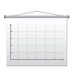 Presentation board vector
