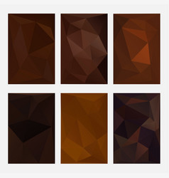 set of brown wrinkled triangle paper coffee and vector image
