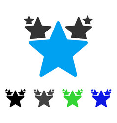 Stars hit parade flat icon vector