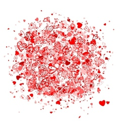 Valentine frame for your design vector image vector image