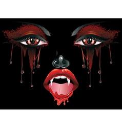 Vampire Makeup vector image