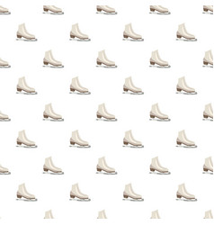 White figure skates pattern vector
