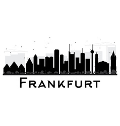 Frankfurt city skyline black and white silhouette vector