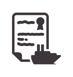 Boat insurance document design vector