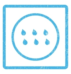 Drops icon rubber stamp vector