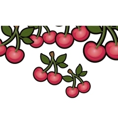Isolated cherry fruit design vector