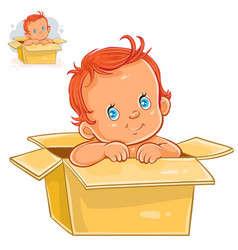 Little baby with white skin vector
