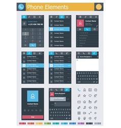 Phone elements vector image
