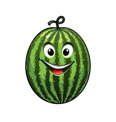 Cheerful goofy watermelon vector