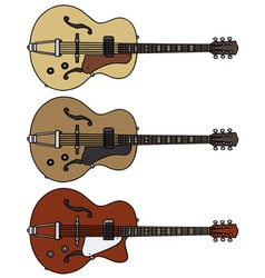Old electric guitars vector