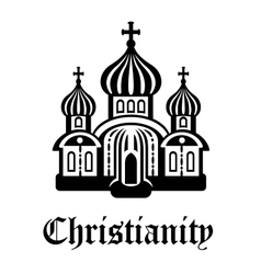 Christianity temple or church vector