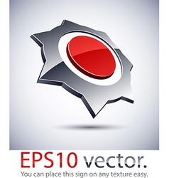 3d modern prickly logo icon vector