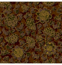 seamless floral damask pattern background vector image