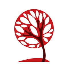 Artistic stylized natural symbol creative tree ca vector